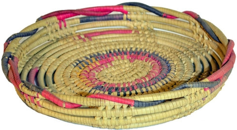 AFRICAN TRAY ROUND SMALL