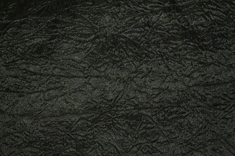 ROUND TABLECLOTHS BLACK CRUSHED (230CM)