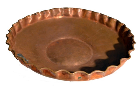 BRASSWARE ROUND SCALLOPED 38CM