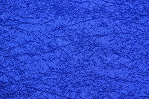TABLE RUNNER ROYAL BLUE CRUSHED TAFETTA