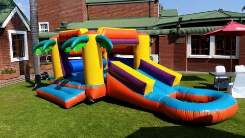 JUMPING CASTLE - TROPICAL SLIDE & SIDE P