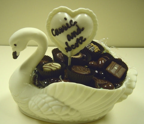 Chocolate Swan filled with Truffles (large)