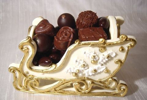 White Chocolate Sleigh filled with Truffles