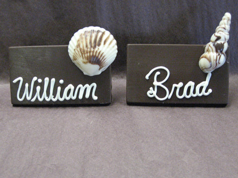 Placecards with Seashells