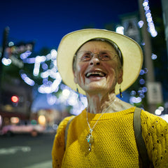 Photo of Marilea in hat with big smile