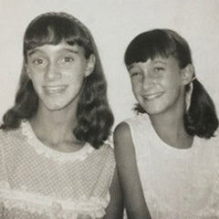 Photo of Judy and Joanie as girls