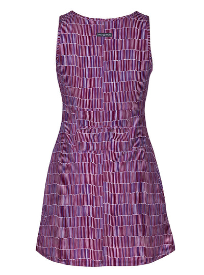 Rear view Dynamite Nuu-Muu Scoop pocket exercise dress, running dress, travel dress, athletic dress