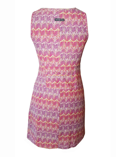 Rear view of Electra Ruu-Muu pocket exercise dress, running dress, travel dress, athletic dress