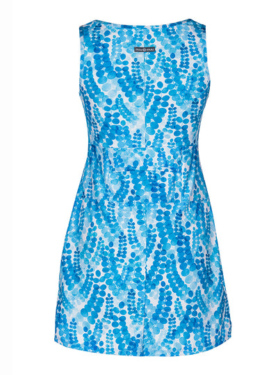 Rear view of Marilea Ruu-Muu pocket exercise dress, running dress, travel dress, athletic dress
