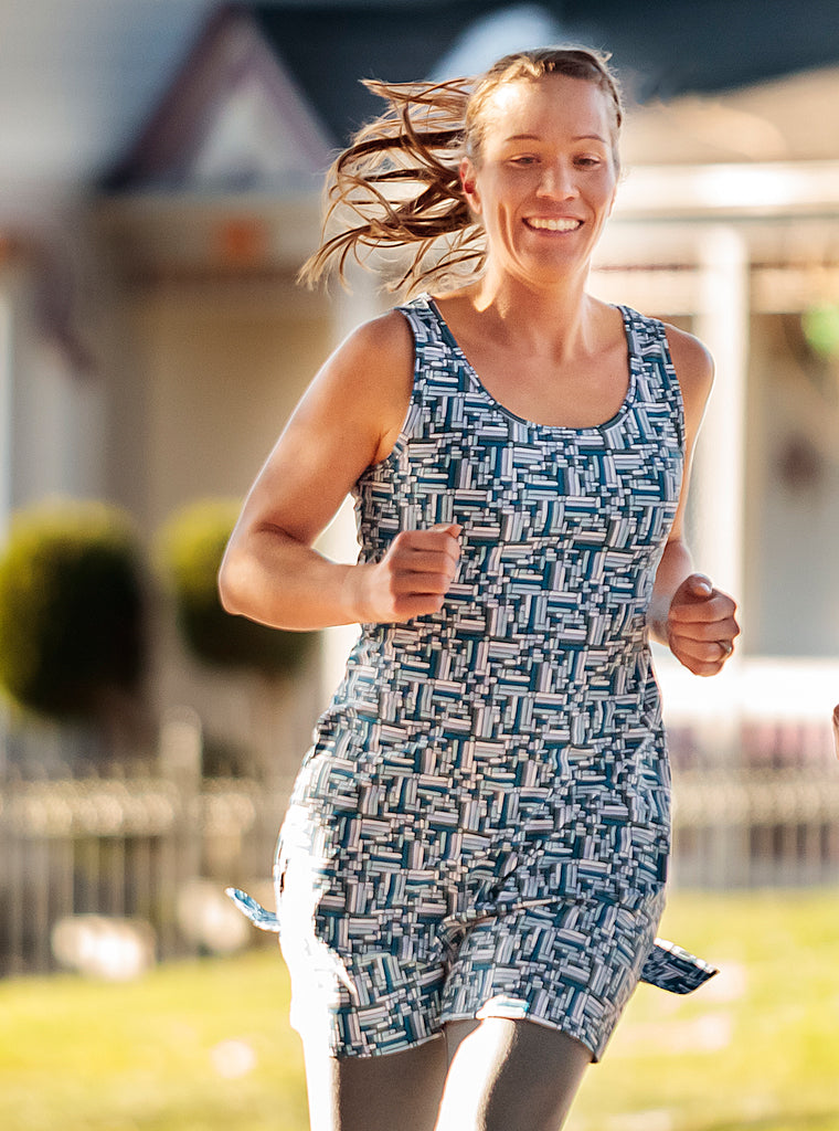 Puzzle Nuu-Muu Scoop pocket exercise dress, running dress, travel dress, athletic dress