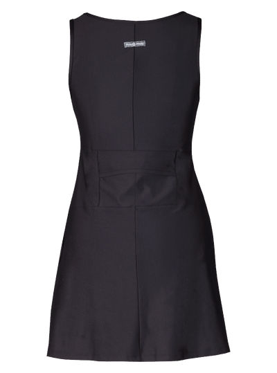 Rear view X-Dress Nuu-Muu Scoop pocket exercise dress, running dress, travel dress, athletic dress