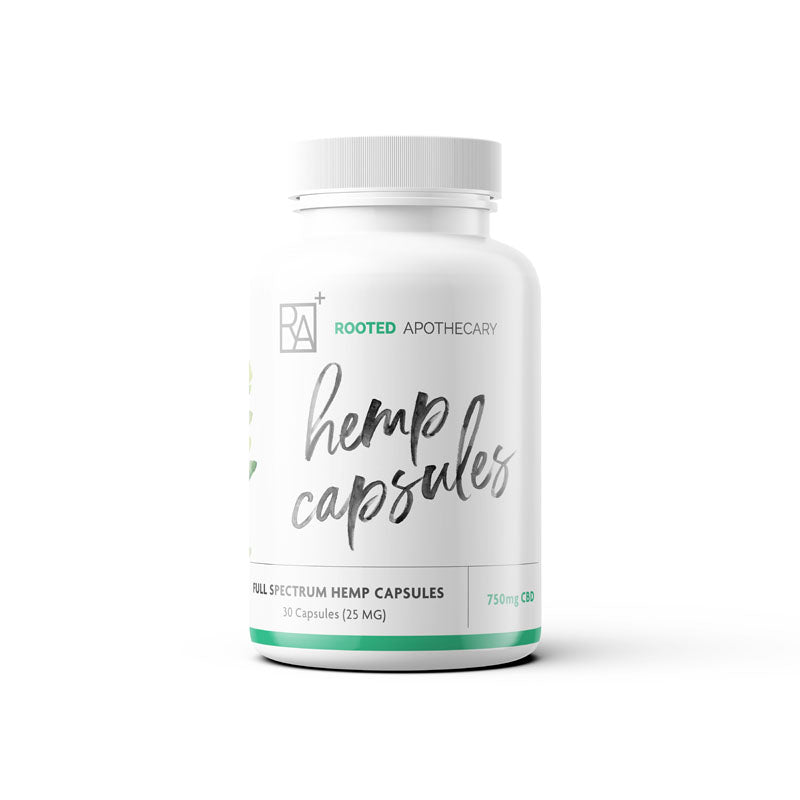 750mg Hemp Extract Capsules - organically grown hemp extract, CBD
