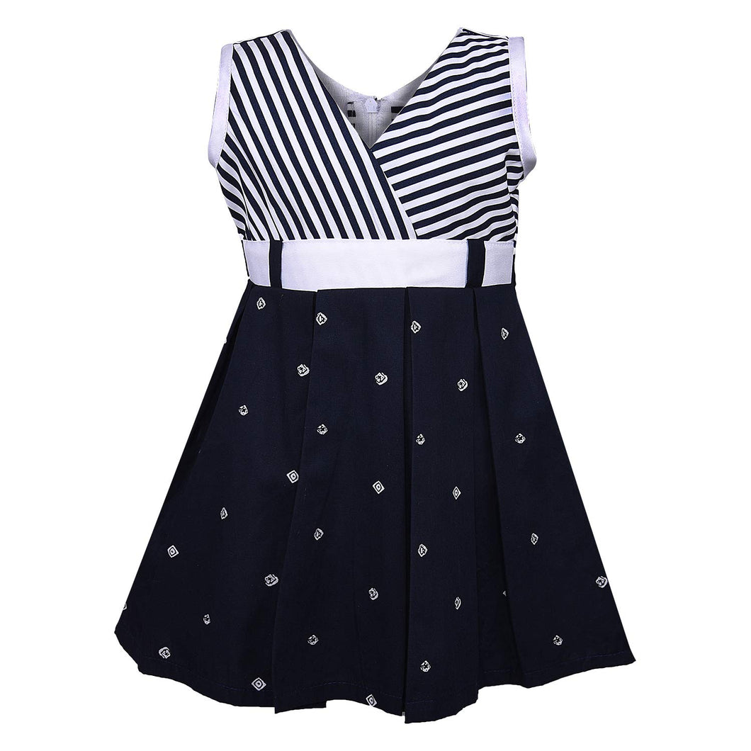 Girls Cotton Casual Dress - Cotton
