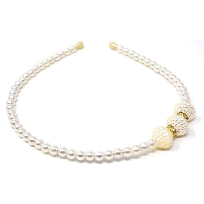 Headband White Pearl (Pack of 2)