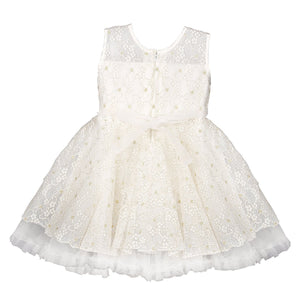 Birthday Dress for Girls - Off White Net