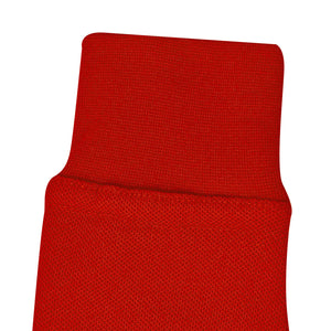 Red - Classic Plain Polo - Long Sleeve