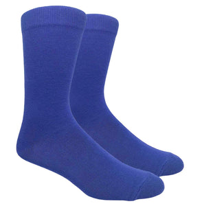 Black Label Plain Dress Socks - Royal Blue