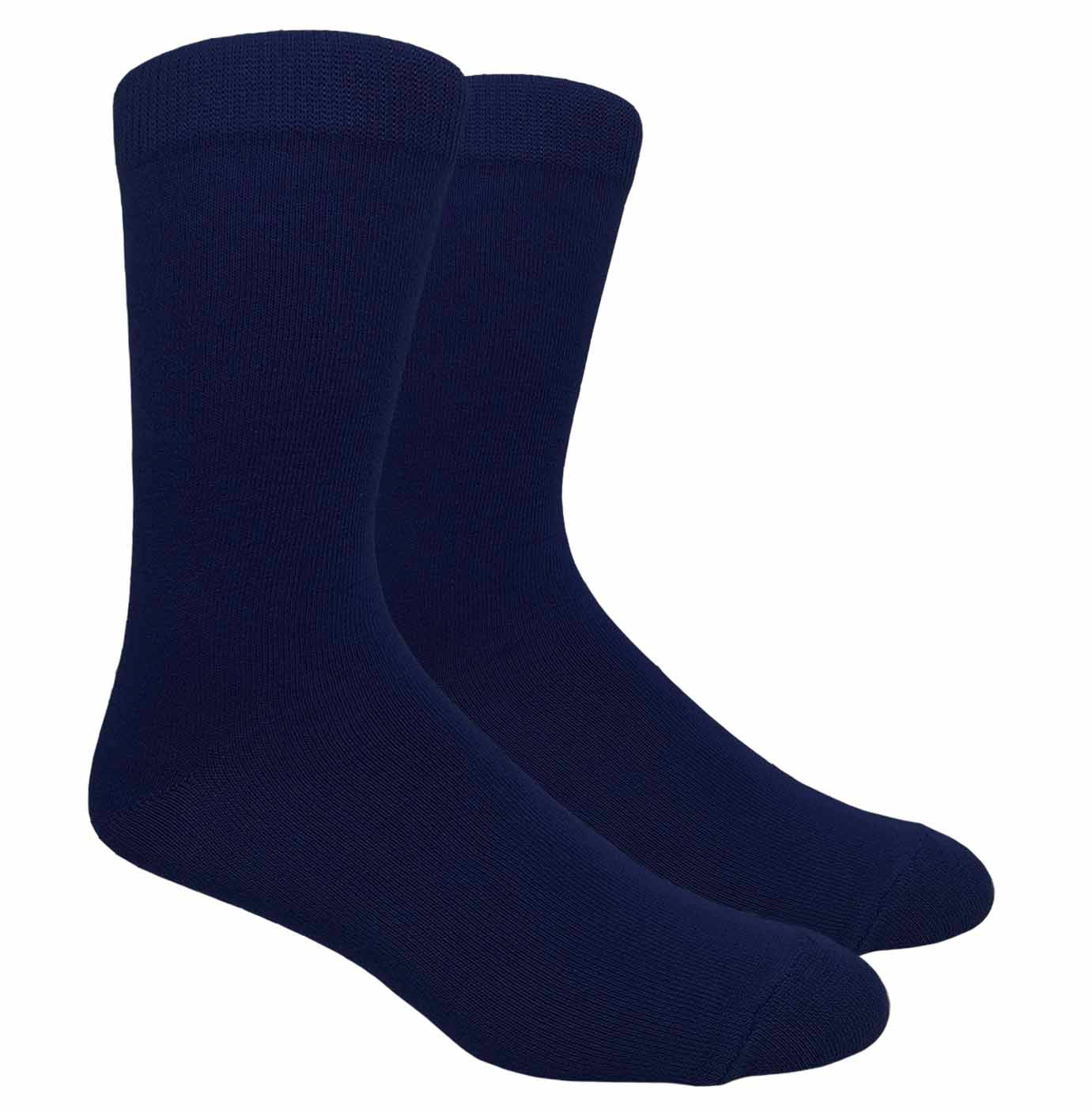 Black Label Plain Dress Socks - Navy
