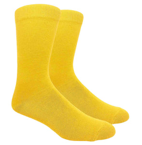 Black Label Plain Dress Socks - Gold