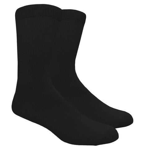 Black Label Plain Dress Socks - Black