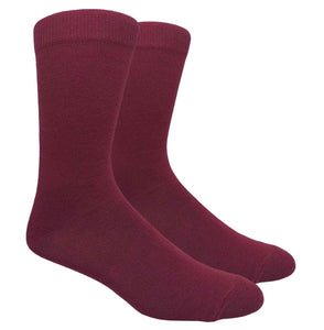 Black Label Plain Dress Socks - Burgundy