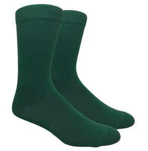 Black Label Plain Dress Socks - Forest Green