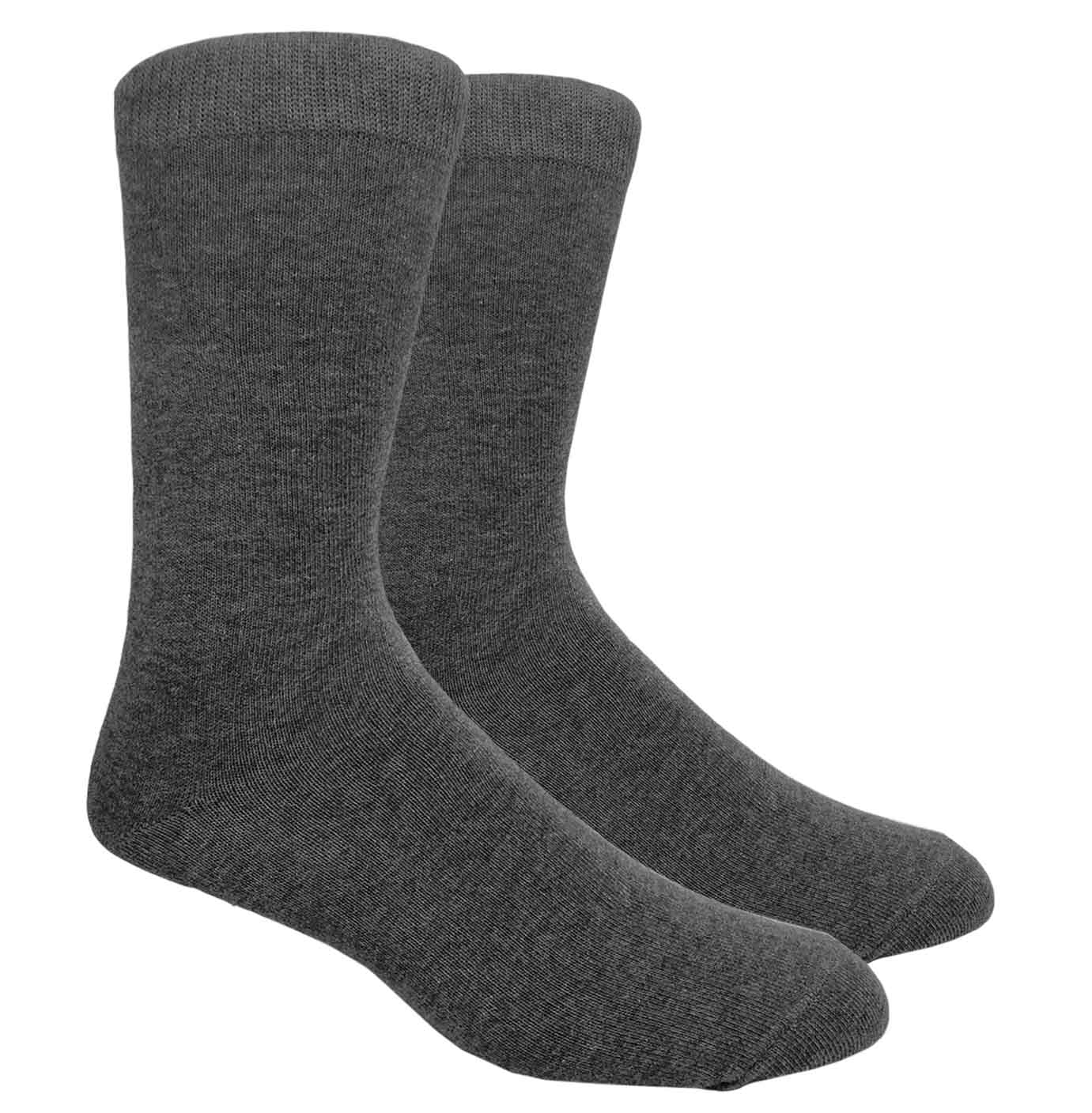 Black Label Plain Dress Socks - Heather Grey