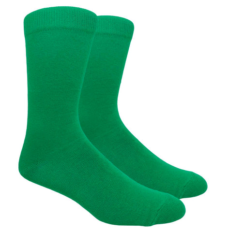 Black Label Plain Dress Socks - Kelly Green