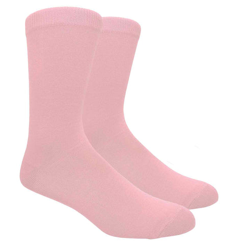 Black Label Plain Dress Socks - Light Pink