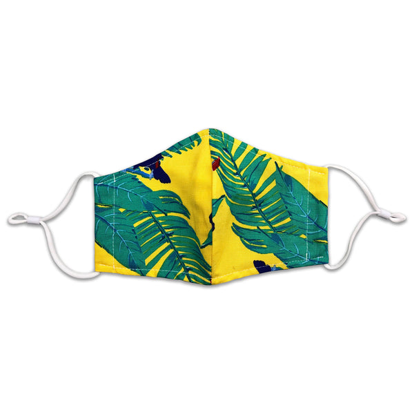 Yellow & Green Tropical Mask