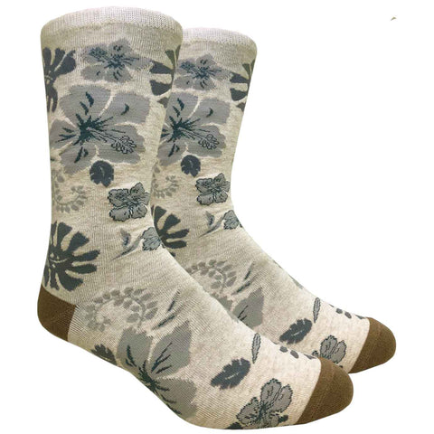 Tropical Flowers (Beige)