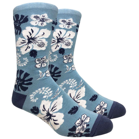 Tropical Flowers (Harbor Blue)