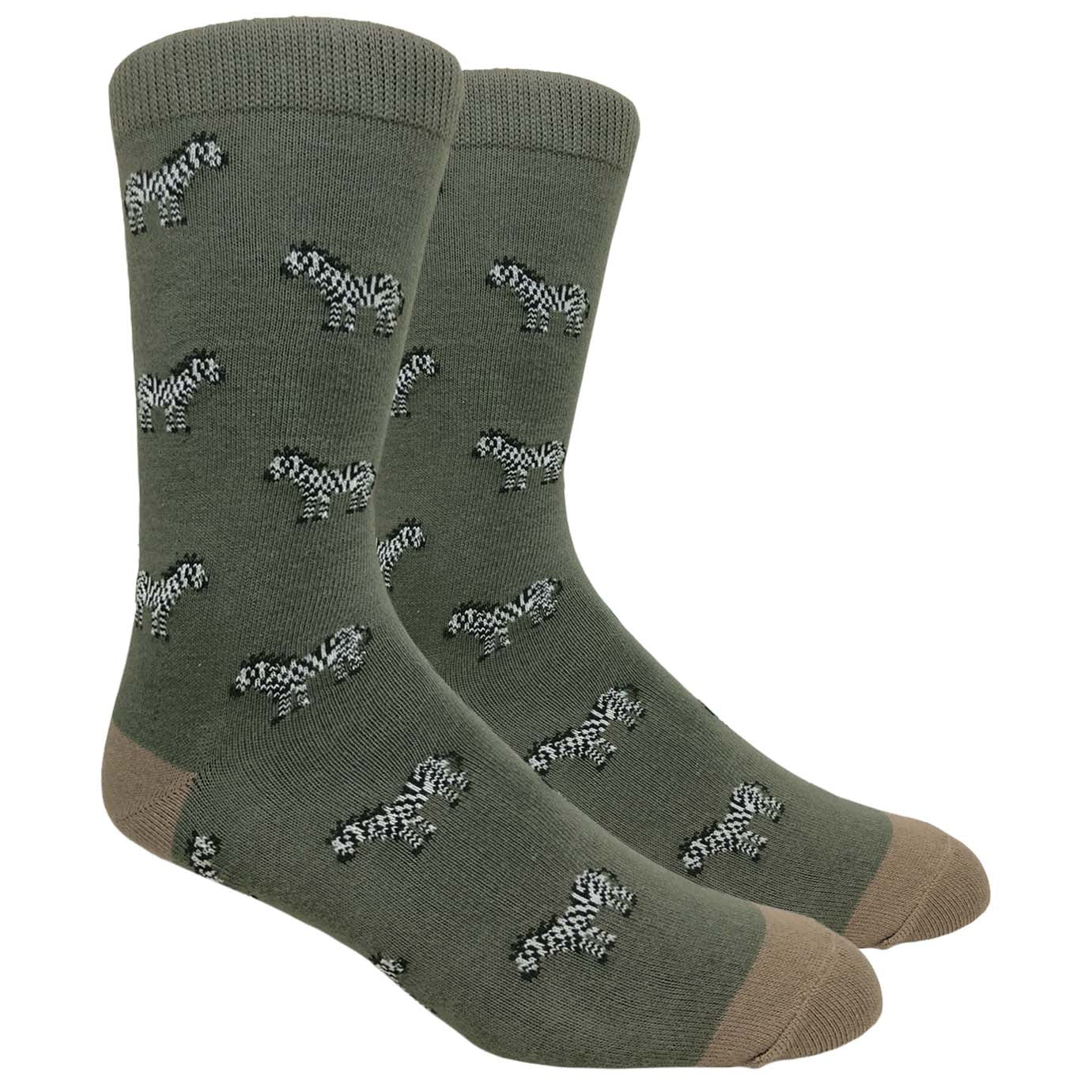 FineFit Black Label Novelty Socks - Charcoal Grey Zebras