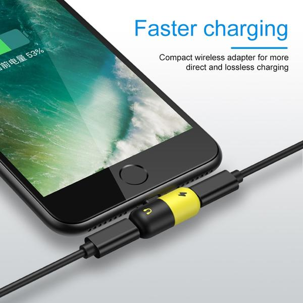 lightning adapter splitter audio charger iphone