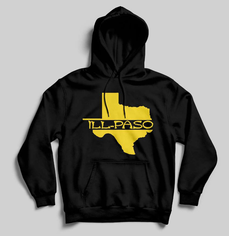 """ill state of mine"" Men's Pullover Hoodie (Black) by illpaso"