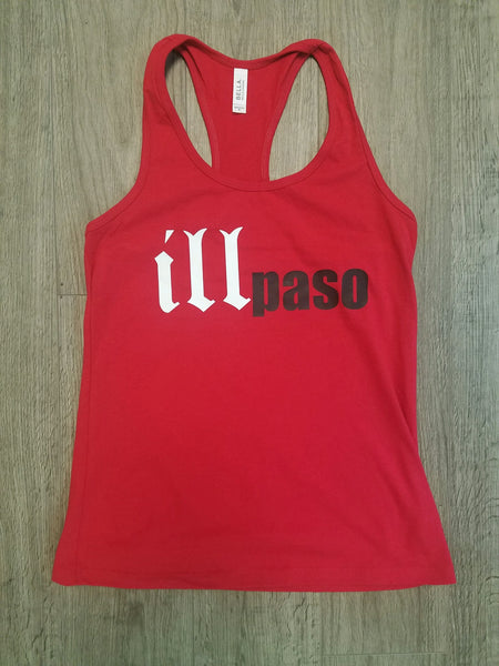 """illmatic Tribute"" Women's Racerback Tank Top (Red) by illpaso"