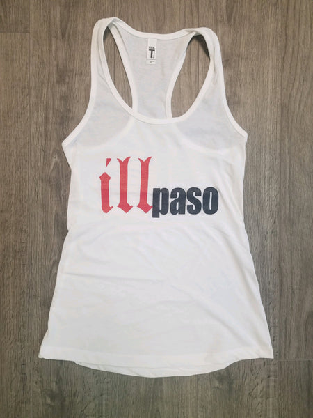 """illmatic Tribute"" Women's Racerback Tank Top (White) by illpaso"