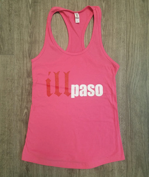 """illmatic Tribute"" Women's Racerback Tank Top (Pink) by illpaso"