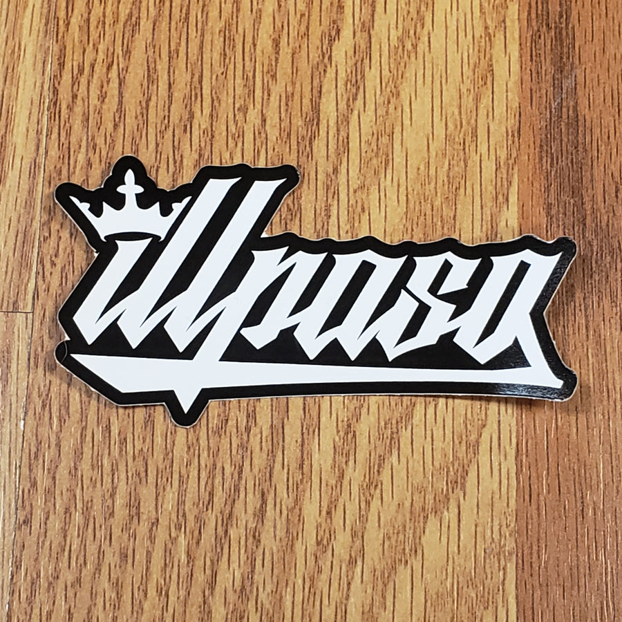 Kingz Crown Die Cut Stickers (Pack of 2)  (Black) by illpaso