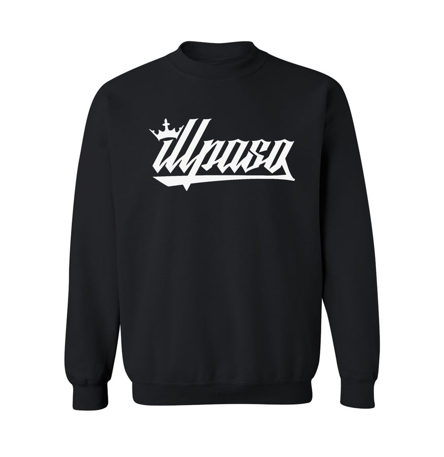 """Kingz Crown"" Midweight Crew Neck Sweatshirt (Black) by illpaso"