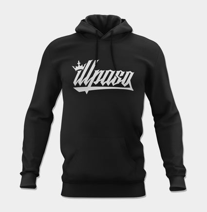 Kingz Crown Logo Unisex Pullover Hoodie (Black) by illpaso