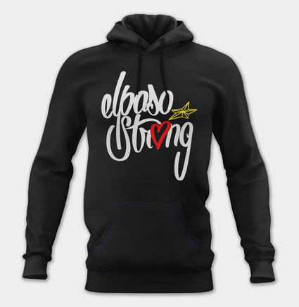 El Paso Strong Unisex Pullover Hoodie (Black) by LX 1984
