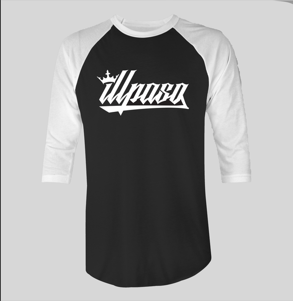 """Crown"" Raglan (Black w/ White Sleeves) by illpaso"