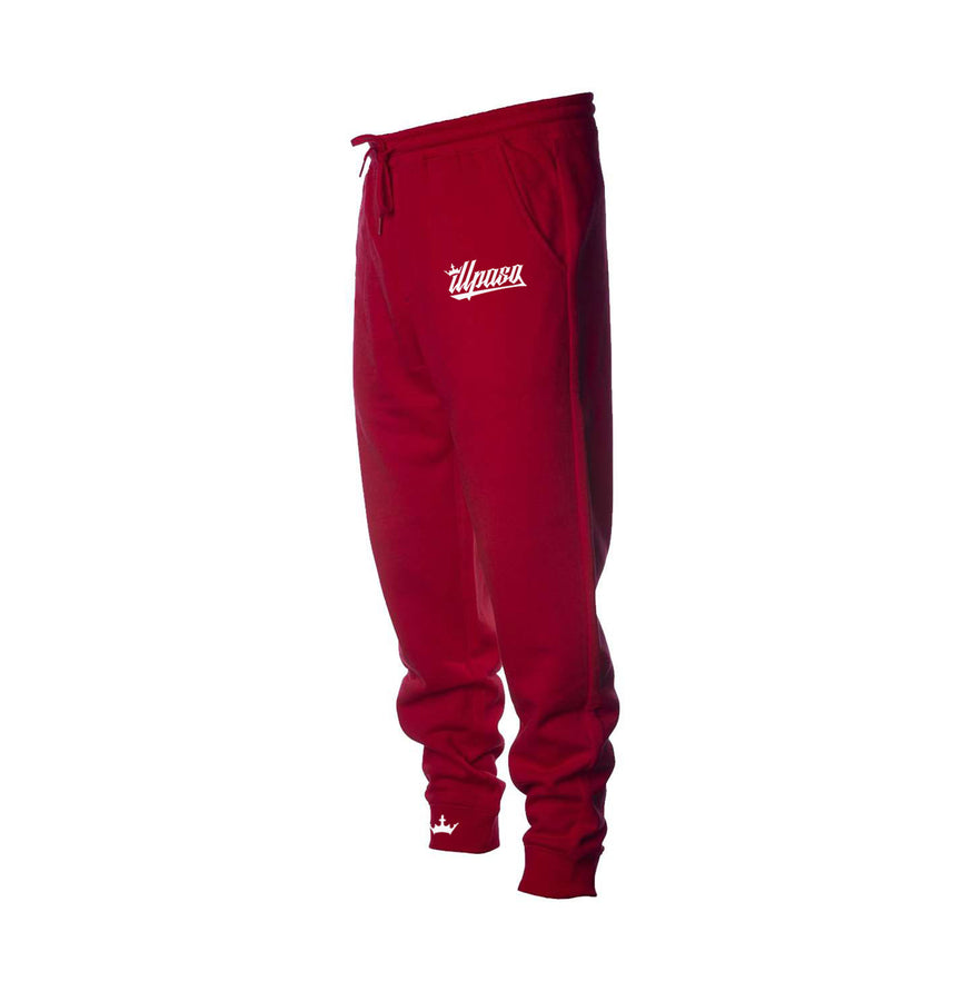 """Kingz Crown"" Midweight Fleece Jogger Pant (Red)"