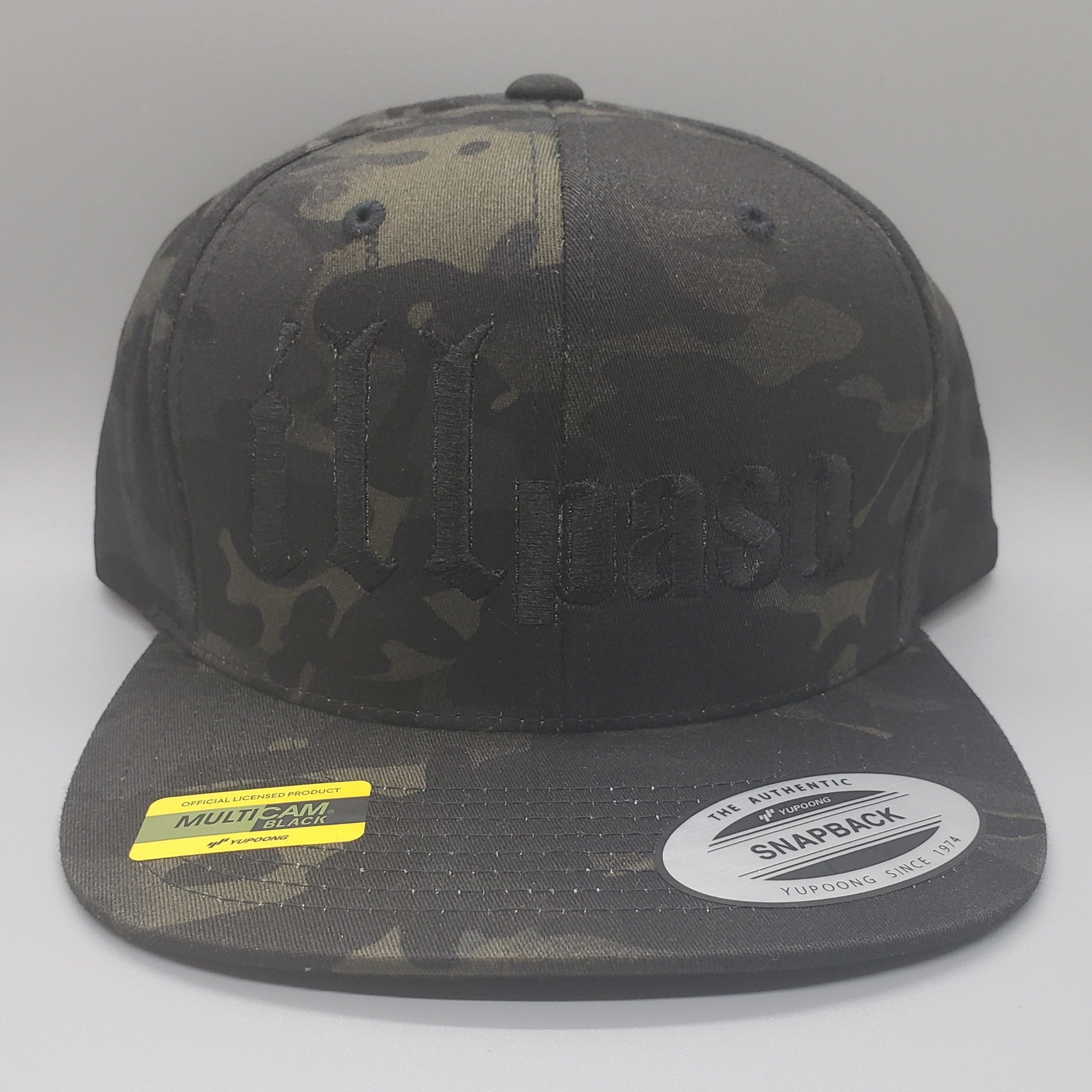 """illmatic Tribute"" Snapback Hat (Multicam Black Camo w/ Black Logo) by illpaso"