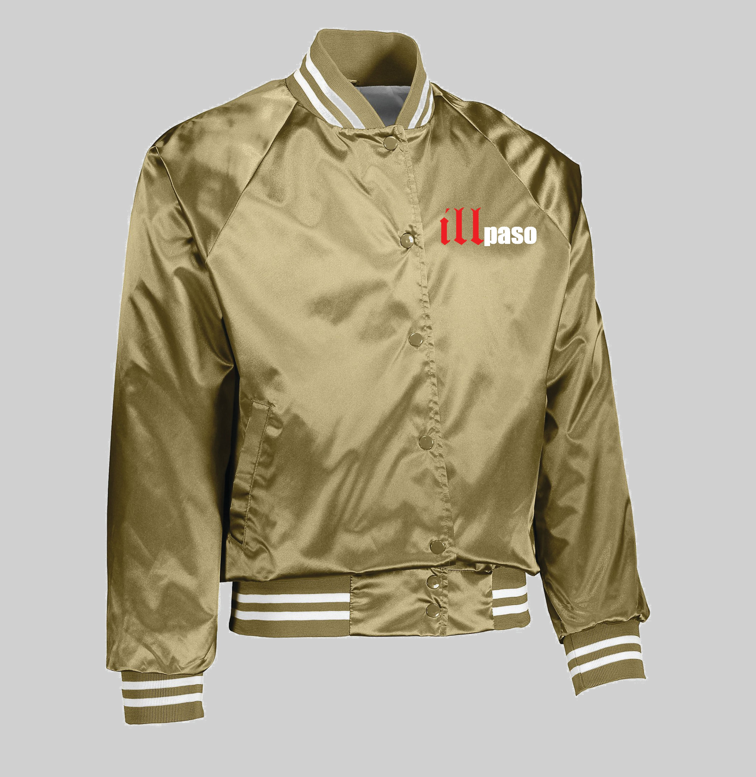 """illmatic Tribute"" Baseball Satin Jacket (Gold) by illpaso"