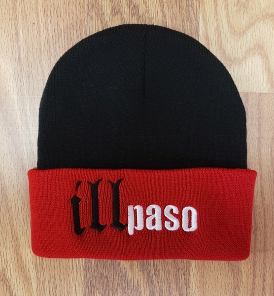 """illmatic Tribute"" Beanie w/ brim (Black and Red by illpaso"