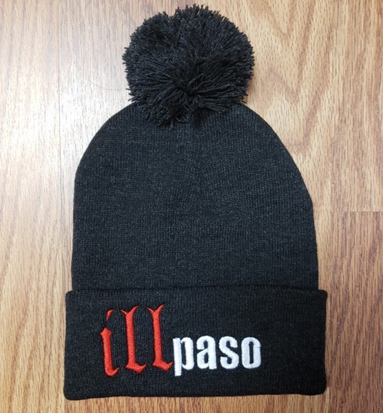 """illmatic Tribute"" Pom Beanie (Charcoal Gray) by illpaso"