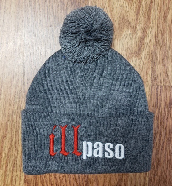 """illmatic Tribute"" Pom Beanie (Gray) by illpaso"