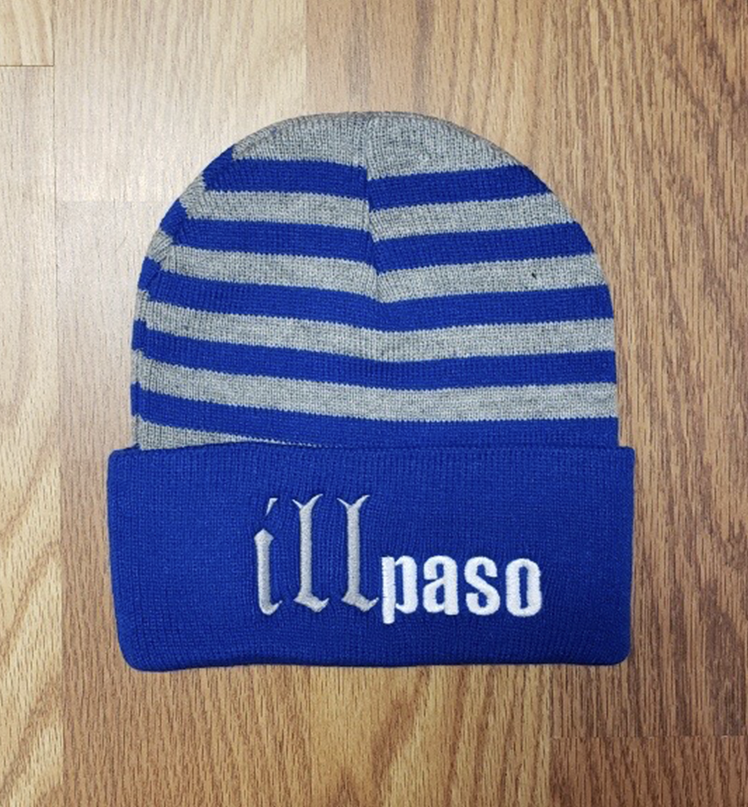 """illmatic Tribute"" Beanie w/ brim (Blue Striped) by illpaso"